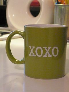 SMS XOXO coffee mug